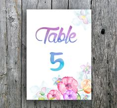 Instant download. Watercolor table numbers for your special event. Wedding, bridal shower, baby shower... Files are sent immediately after purchase. Files include table numbers 1 through 20. Message me for more numbers, if you need.