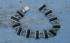 Volmer Bahner Vintage Danish Gilded Sterling Silver and Enamel Bracelet