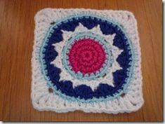 Ster-cirkel granny square haken Veel meer nl patroontjes op deze site