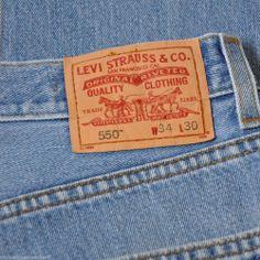Levi Jeans Mens 550 Relaxed Fit W34 L30 Denim