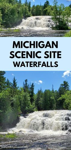 best places to visit in the midwest. hiking trail along the river with waterfalls. us outdoor travel destinations. vacation spots, ideas, places in the US. michigan things to do upper peninsula up north. US outdoor vacation road trip midwest from wisconsin, chicago, minnesota, illinois, indiana, ohio
