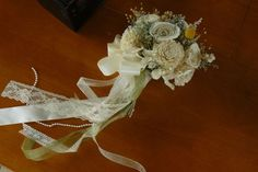 Wedding Bouquet Sola wood Bouquet Sola Ivory by TheBloomingCorner