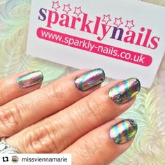 #Repost @missviennamarie with @repostapp  Oil slick nail foils  not brilliantly applied but I can't stop staring at my hands   I watched @simplynailogical's oil slick nail art video and I immediately had to find somewhere that sold the rainbow swirl foil! This isn't an ad or sponsored I just wanted to shout out this small UK business great customer service and quick delivery! @sparklynailsuk