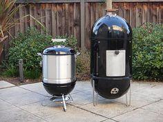 Weber Smokey Joe smoker mod #smoker #SmokeyJoe