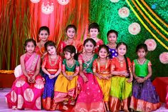 Hiya Reddy's Magnificent Half Saree Ceremony As Grand As A Wedding Baby Boy Dress, Dresses Kids Girl, Kids Outfits, Baby Dresses, Kids Indian Wear, Kids Ethnic Wear, Half Saree Function, Kids Party Wear, Kids Wear