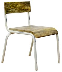 Pure chair wood-metal www.kidsdepot.nl