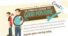Posture is about more than looking confident. Sitting or standing correctly ensures our bodies function properly. Use this infographic to start improving your posture today! Posture Fix, Bad Posture, Better Posture, Improve Posture, Tight Shoulders, Psoas Muscle, Our Body, Fitness Nutrition, Back Pain
