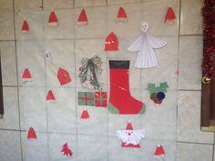 Painel natalino com as crianças Calabrianas!
