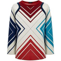 Anya Hindmarch Reverse Diamonds Sweatshirt ($1,295) ❤ liked on Polyvore featuring tops, hoodies, sweatshirts, print top, sweatshirts hoodies, anya hindmarch, 80s fashion and reversible top
