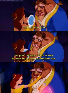 I love Belle and the Beast's relationship.