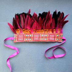 Indian Summer  - Vibrant Festival Headdress - Feather Crown by Hapuska, based in the UK and selling on Etsy. Oh, I want this.