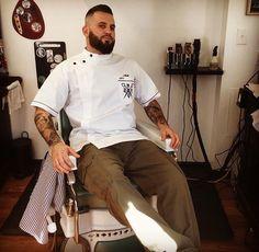 Dupont Street Barbering Co. #barbershop #barber #barberpole #custommade #barbersmock #sartorandvillain