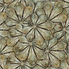 Picture of Bronze chestnut leafs seamless background - seamless pattern for continuous replicate. See more seamless patterns in my portfolio.