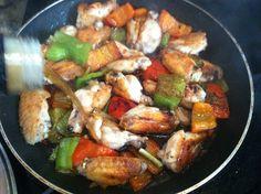 Alitas de pollo al estilo Pepa. (Pepa's Chicken wings)