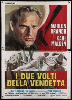 eMoviePoster.com Image For: 5w092 ONE EYED JACKS Italian 2p R70s different Cesseslon artwork of star & director Marlon Brando!