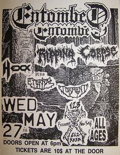 GigPosters.com - Entombed - Ripping Corpse - Hexx - Eternal Torment