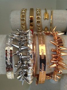Great gift ideas in gold, silver and rose gold. Starting at $39. www.stelladot.com/jessicahledford #armparty