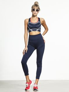 7488a3613a8a8 Squad Bra by LNDR in Navy Sports Tops