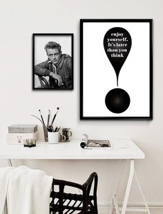 Wall Decoration Exclamation Mark Enjoy yourself. by PrintablePixel