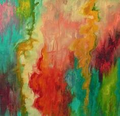 "Contemporary Painting - ""Pink Fancy"", 2011, 24x24 (Original Art from Caroline Thompson)"