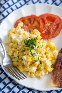 ... Recipe: Scrambled Eggs with Fresh Corn, Goat Cheese & Tomatoes