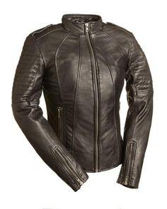 Sexy Biker Women's Leather Jacket