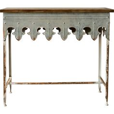The two-tone finish of antique white with weathered Gray-color drawer fronts gives this console table a comfortable and handmade feel. It features two drawers with two framed faux drawer fronts and one shelf for display on the bottom nestled between the tapered legs.