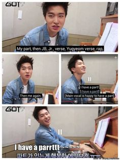 Main Vocal happy about actually having a Part in the song. Oh Youngjae-ah! | allkpop Meme Center