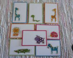 Baby Zoo Animal tags Set of 8