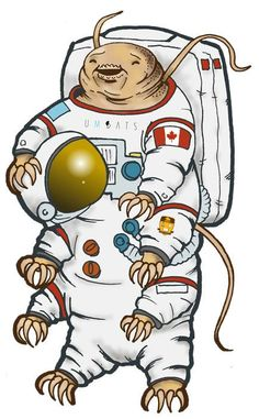 Water bear astronaut