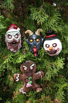 Creepy Horror Christmas Nightmare Evil Ornament set by RevenantFX on Etsy https://www.etsy.com/listing/491280553/creepy-horror-christmas-nightmare-evil