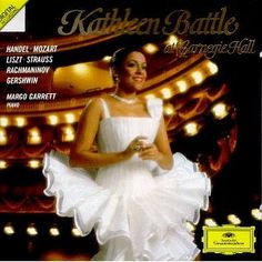 Kathleen Battle at Carnegie Hall -- JG: She was a huge influence on me during my opera days!