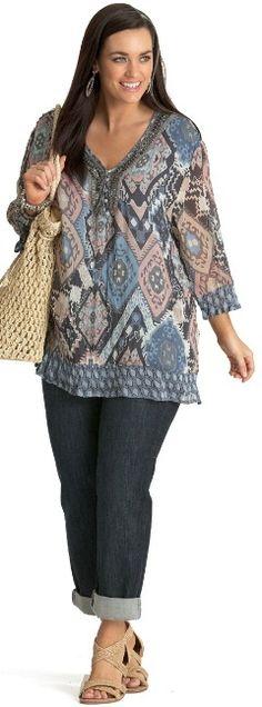 CAPRI KAFTAN## - Tops - My Size, Plus Sized Women's Fashion & Clothing - Plus Size Fashion for Women