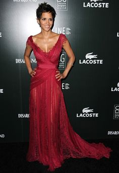 pretty gown, Halle Berry red carpet dress