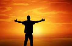 Image for Free Sunset View With Man Open Arms High Res Photos
