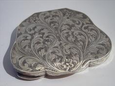 Italian silver powder compact