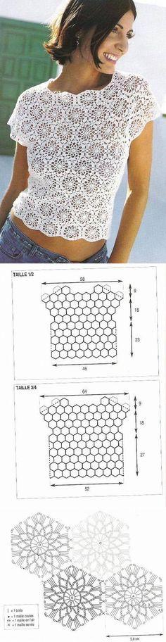 Crochetemoda: Blusas                                                                                                                                                                                 Mais                                                                                                                                                                                 Mais