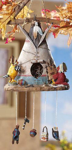 Indian Southwest Teepee Hanging Birdhouse