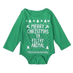 Toraway Infant Baby Boy Girl Christmas Romper Jumpsuit Outfits Clothes 1218 Month Green * Read more  at the image link.Note:It is affiliate link to Amazon. #tagblender