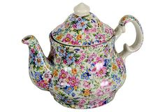 1970 English Transferware Teapot in the Laura Chintz pattern from England
