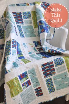 This was the most popular quilt in the booth at Quilt Market, and now you can win the pattern over on Monaluna.com!