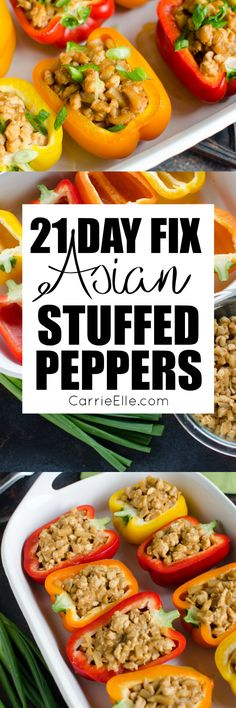 21 Day Fix Asian Stuffed Peppers