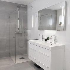 gray Bathroom Decor Gray Bathroom Ideas - Get influenced with these gray bathroom enhancing ideas. Modern Bathroom Design, Bathroom Interior Design, Bathroom Designs, Modern Design, Bathroom Flooring, Bathroom Furniture, Antique Furniture, Modern Furniture, Rustic Furniture