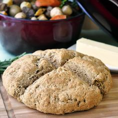Whole Wheat Irish Soda Bread - using only the four basic authentic ingredients