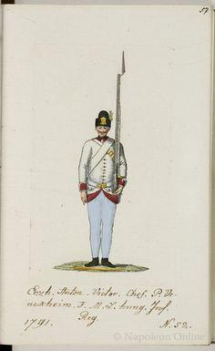 Austria; Nr.52 Hungarian Infantry Regiment Erzherzog Anton Victor, 1793 from Schema aller Uniform der Kaiser. König
