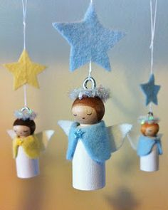 angel peg people by We Bloom Here