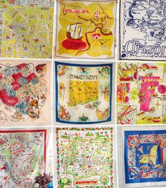 vintage hankerchiefs -- yes, I have a collection of those