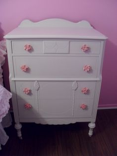 Just finished this shabby chic dresser