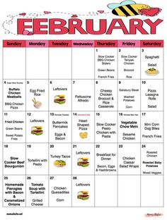 February 2018 Monthly Meal Planer with Weekly Grocery Lists and Recipes - Valent.February 2018 Monthly Meal Planer with Weekly Grocery Lists and Recipes - Valentine's Day - Budget M Menu Planner Printable, Monthly Menu, Printable Budget, Monthly Plan, Planning Menu, Monthly Meal Planning, Cooking On A Budget, Budget Meals, Cooking Wine
