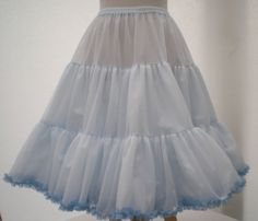 "BABY BLUE ROCK N ROLL/BRIDAL/PROM REPRO 1950s VINTAGE PETTICOAT 25"" LENGTH"
